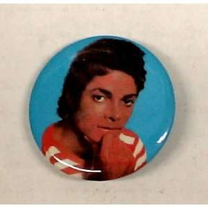 Michael Jackson 1 Striped Shirt Vintage Button