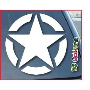 Army Star Car Window Vinyl Decal Sticker 5 Wide (Color