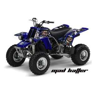 AMR Racing Yamaha Banshee 350 ATV Quad Graphic Kit   Madhatter Blue