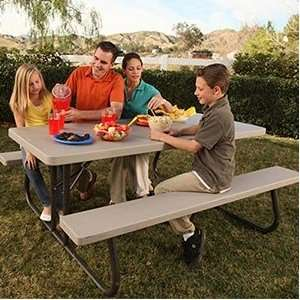 Lifetime 6 Folding Picnic Table 10 pack Lightweight