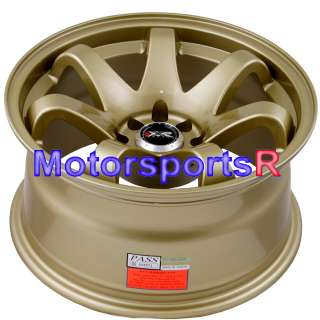 16 8 16x8 XXR 522 Gold Concave Rims Wheels Stance 4x100 90 95 00 05