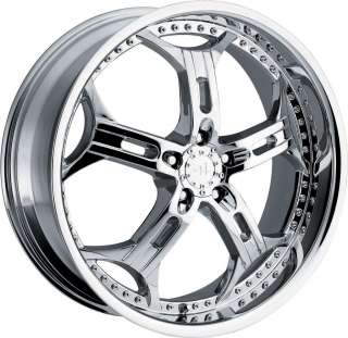 20 CHROME HELO 834 WHEELS RIMS 5X4.5 / 114.3mm +40mm