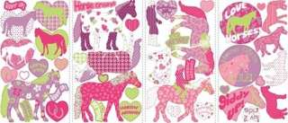 44 New HORSE CRAZY WALL DECALS Girls Decor Stickers 034878078472