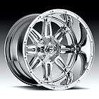 18 FUEL OFFROAD Hostage Wheel SET XD Chrome 18x12 FUEL DEEP LIP