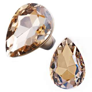 make your fingers sparkle with any of these large pear shaped rings it