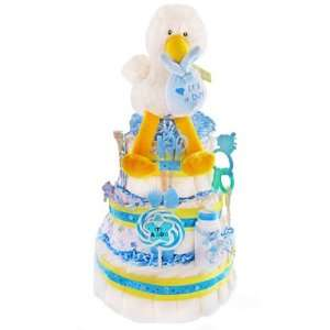 Special Delivery 3 Tier Diaper Cake   Boy Baby