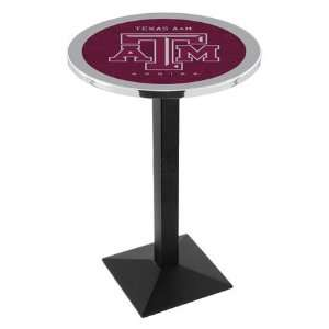 42 Texas A&M Bar Height Pub Table   Square Base Sports