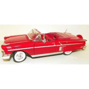 Scale Diecast 1958 Chevy Impala Convertible in Color RED Toys & Games