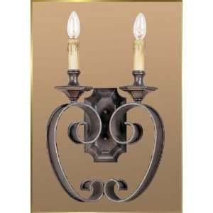 Wrought Iron Wall Sconce, JB 7320, 1 light, Oiled Bronze, 11 wide X