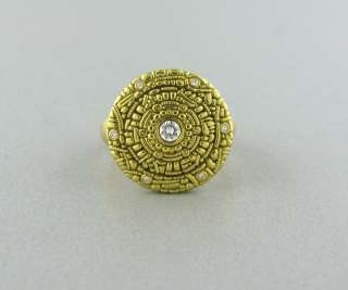 ALEX SEPKUS SHIELD 18K YELLOW GOLD DIAMOND RING $3125