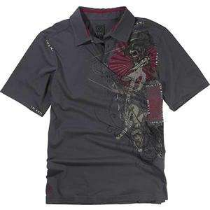 Fox Racing Inked Polo   X Large/Charcoal Automotive