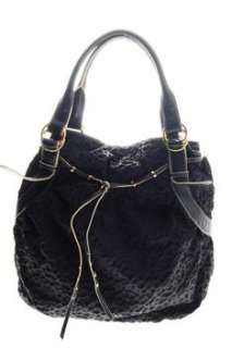 Oryany NEW Cloque Leather Shoulder Medium Handbag Black Bag