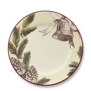 NEW WILLIAMS SONOMA CHRISTMAS CAROLS DINNER PLATES SET OF 4 BY MARK