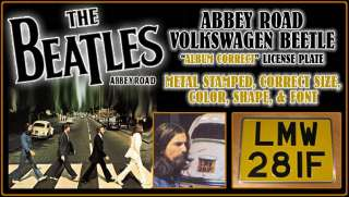 Beatles ABBEY Road LMW 28IF VW Beetle UK License Plate