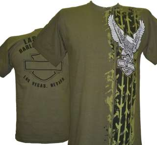 Davidson Las Vegas Dealer Tee T Shirt GREEN MEDIUM #BRAVA1