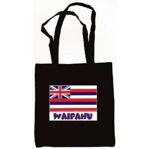 Waipahu Hawaii Souvenir Canvas Tote Bag Black Everything