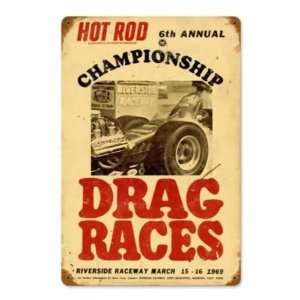 Hot Rod Riverside Vintage Metal Sign Hot Rod Magazine