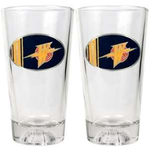 Golden State Warriors NBA 2pc Pint Ale Glass Set with