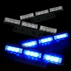 36 Bright Blue LED Law Enforcement Flash Strobe Lights Bar