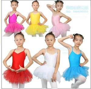 New Girls Ballet Tutu Leotards Skirt Dance Costume Skate Dress SZ 5 8Y