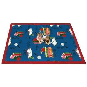 Joy Carpets Read the Word Kids Area Rug, Blue Rugs, 7 ft. 7 in. Round
