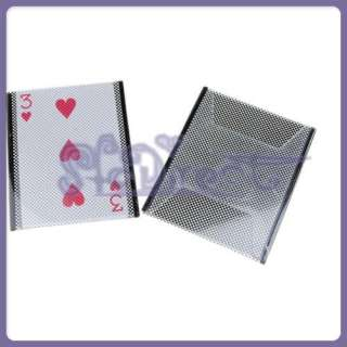 Plastic Illusion Card Sleeve Change Magic Trick Gimmick