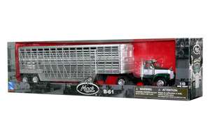 MACK B61 TRUCK TRAILER W/ BELLY 1/43 DIE CAST GREEN NEW