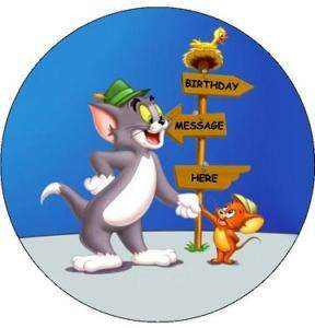 TOM AND JERRY EDIBLE ICING CAKE IMAGE TOPPER DECORATION