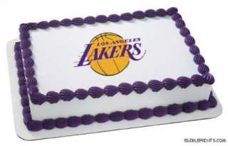 Los Angeles Lakers Edible Image Icing Cake Topper