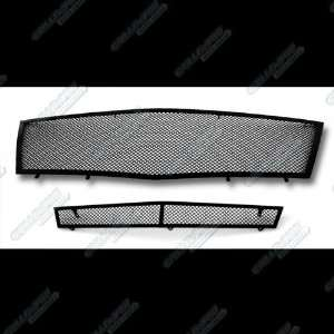 08 12 2011 2012 Cadillac CTS Black Stainless Steel Mesh Grille Grill