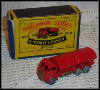 matchbox moko lesney #11 red ESSO delivery truck 1950s with BOX erf