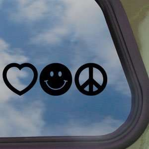 Love Smile Peace Black Decal Car Truck Window Sticker