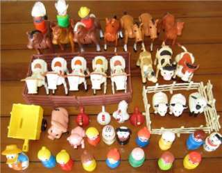 FISHER PRICE LITTLE PEOPLE HORSE COW FARM ANIMALS PIG SHEEP DOG