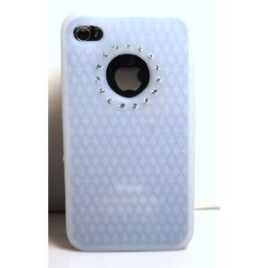 Diamond Rhinestone Bling Soft Silicone Skin Gel Cover Case for Apple