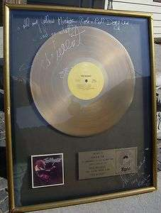 TED NUGENT (AUTOGRAPHED) SELF TITLED GOLD RECORD AWARD