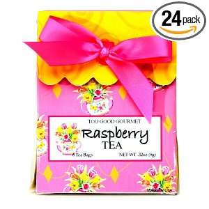 Too Good Gourmet Pink Raspberry Tea In Pink Gift Box, 0.32 Ounce Boxes