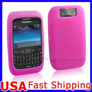PINK SILICONE SKIN CASE COVER FOR BLACKBERRY CURVE 8900