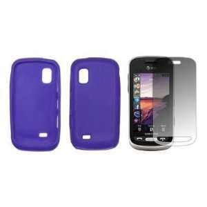 Light Purple Soft Silicone Gel Skin Cover Case + LCD