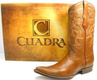 CUADRA DEER skin MENs COWBOY BOOTS honey colored SIZE 9