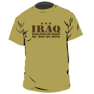 iraq sunny days usmc usa military army funny t shirt XL
