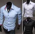 S654 New Mens Luxury Stylish Casual Dress Slim Fit Shirts 3 Colours 4