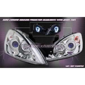 Mitsubishi Lancer Headlights Chrome Angel Eyes Halo Pro