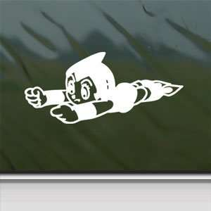 Astro Boy White Sticker Atom Car Laptop Vinyl Window White