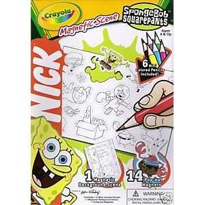 SpongeBob Squarepants Activity Set CRAYOLA Magnetic Scene Coloring