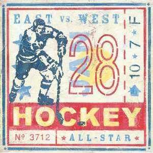 Oopsy daisy Game Ticket Hockey Wall Art 14x14