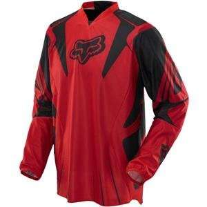Fox Racing Airline Jersey   Small/Bright Red Automotive