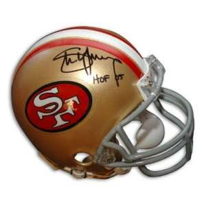 Autographed Steve Young 49ers Throwback Mini Helmet Inscribed Hof 05