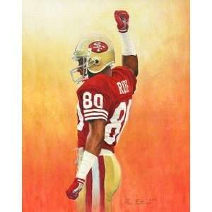 Jerry Rice San Francisco 49ers Small Giclee Sports