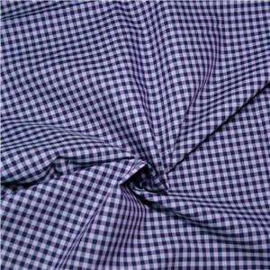 Style Crest Pima Cotton Fabric, Black & Pale Purple Shirting Check