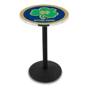 42 Notre Dame Shamrock Bar Height Pub Table   Round Base